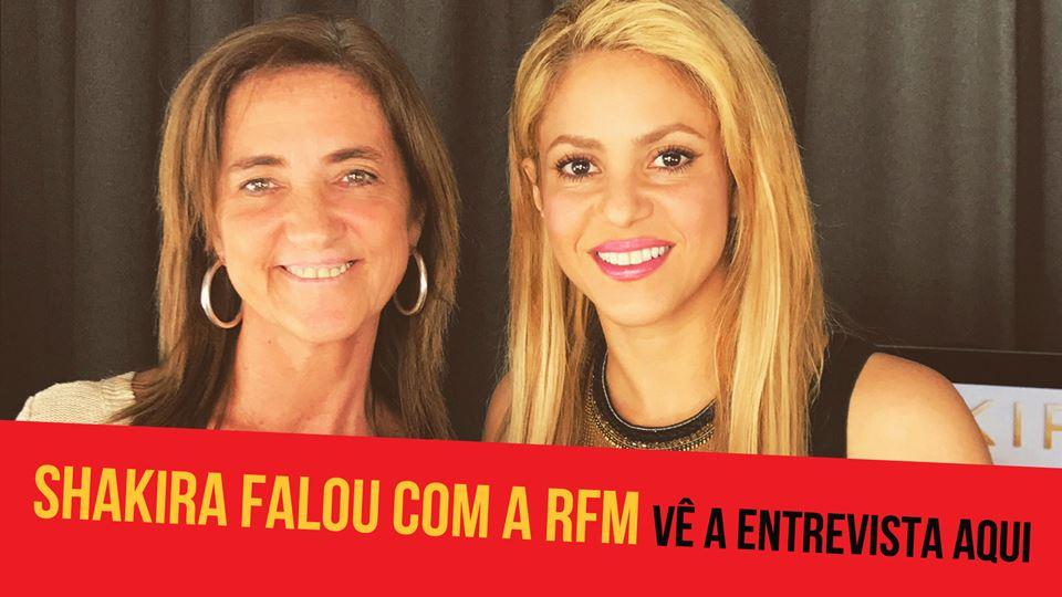 Shakira falou com a Teresa Lage