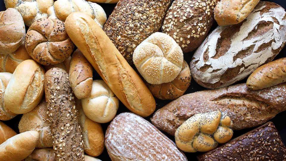 Diferentes variedades de pão