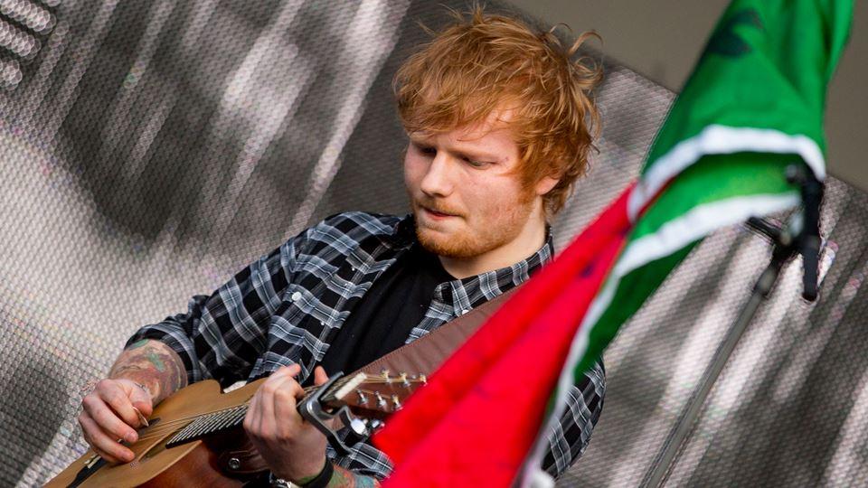 Ed Sheeran em Lisboa com James...