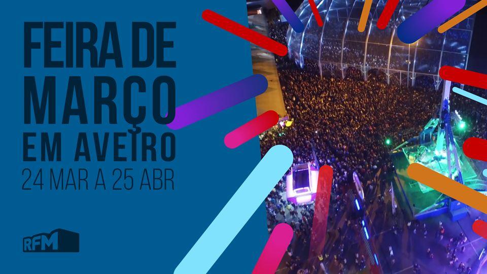 Feira de Março em Aveiro com a...