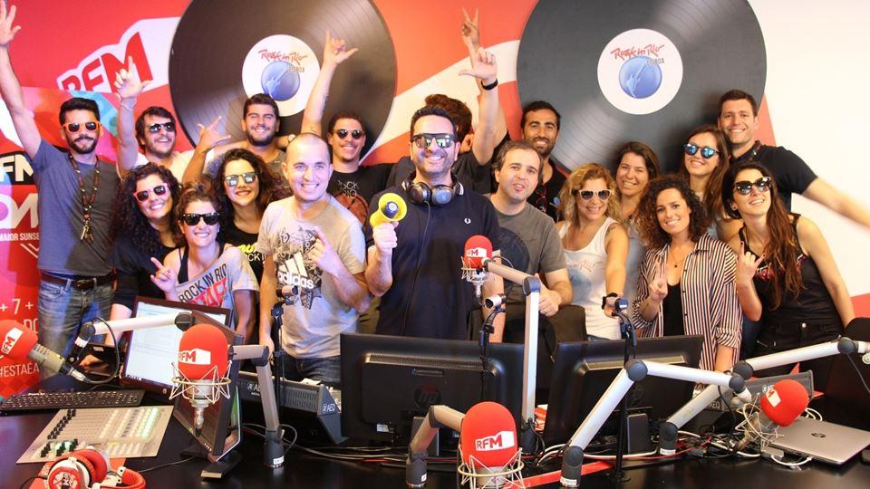 Equipa de produção do Rock in Rio com Fridayboyz