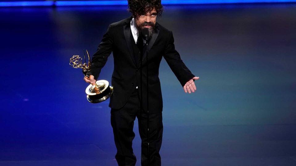 """Peter Dinklage - que interpretou Tyrion Lannister em """"Game of Thrones"""", ganhou Emmy para melhor ator secundário de série dramática"""