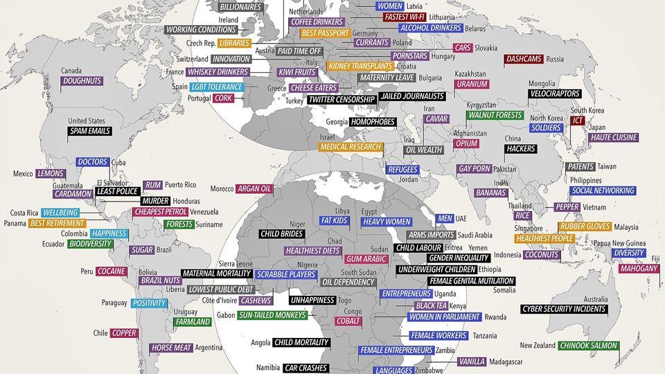 International-Number-Ones mapa