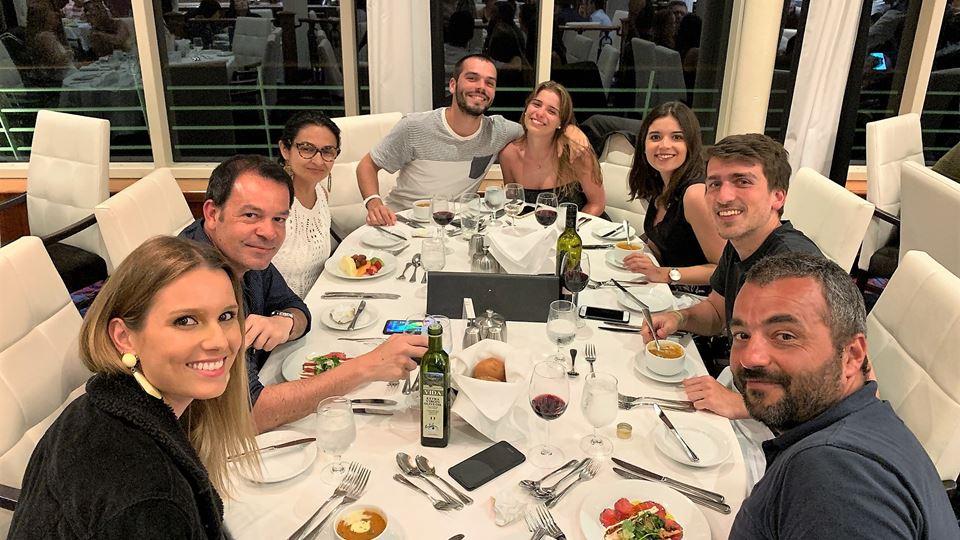 O jantar no Mariner of the Seas