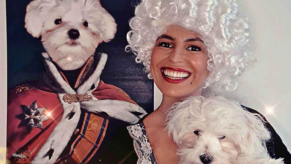 Joana Cruz feliz com o seu cão...