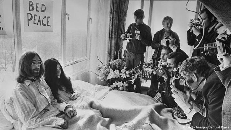 John Lennon e Yoko Ono Bed in for Peace