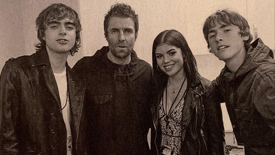 Liam Gallagher e os filhos Lennon ,Gene e Molly