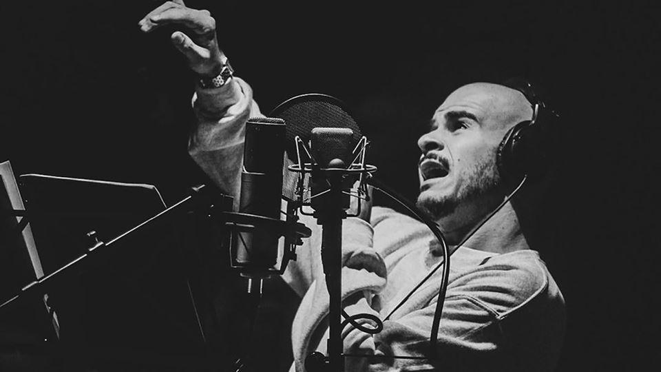 Luís Franco Bastos a gravar
