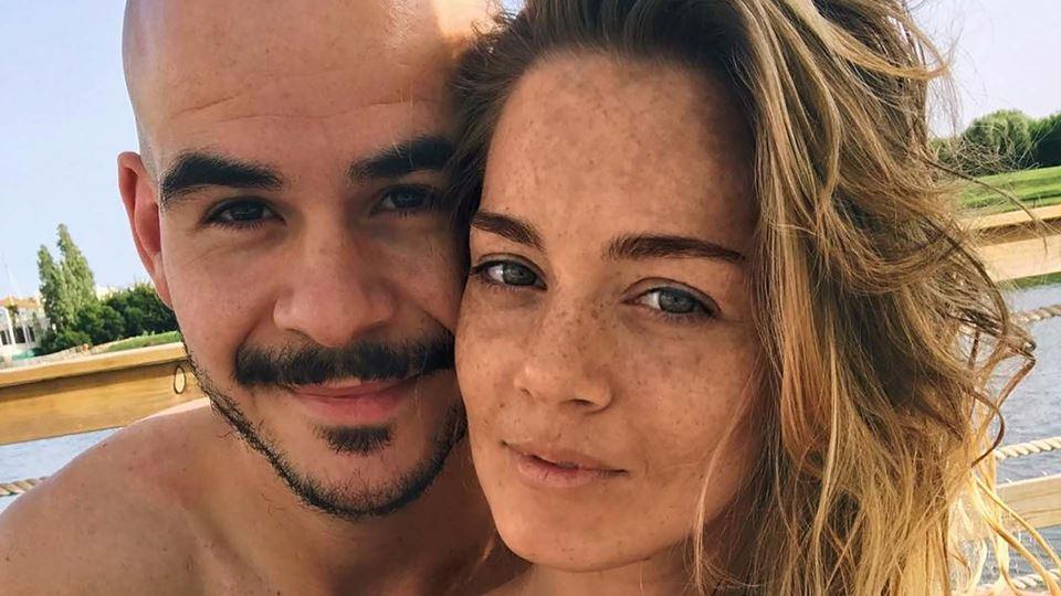 Luís Franco Bastos com a namorada