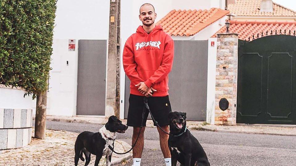 Luís Franco Bastos com os cães