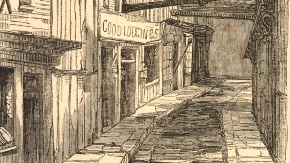 Mint Street 1854 Courtesy Trustees of British Museum