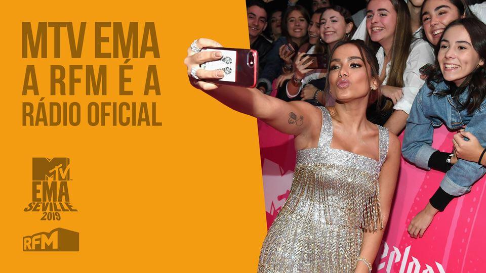 Ela vai aos MTV EMA 2019 com a RFM