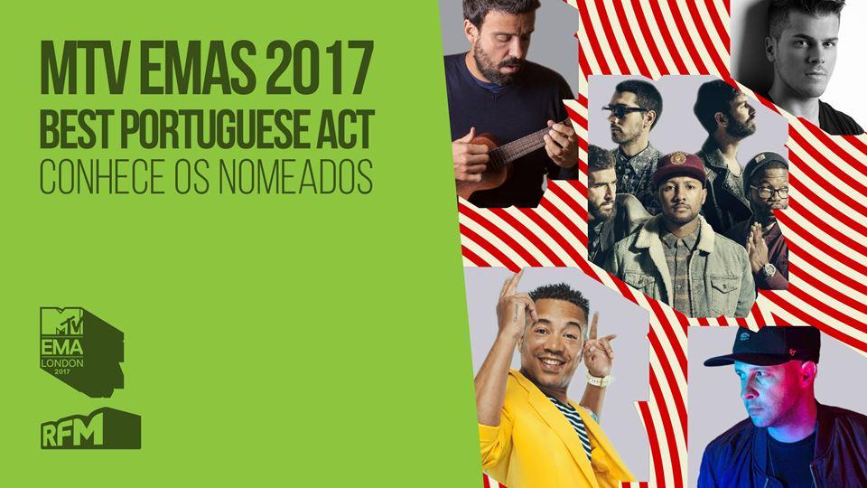 MTV EMAs Nomeados para Best Portuguese Act 2017