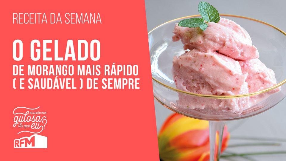 O gelado de morango mais rápid...