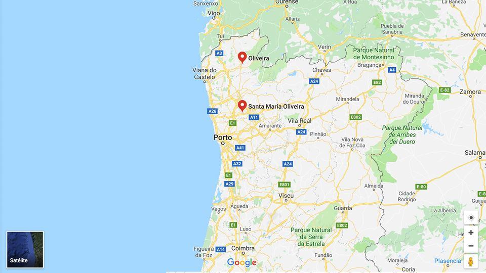 OLIVEIRA mapa