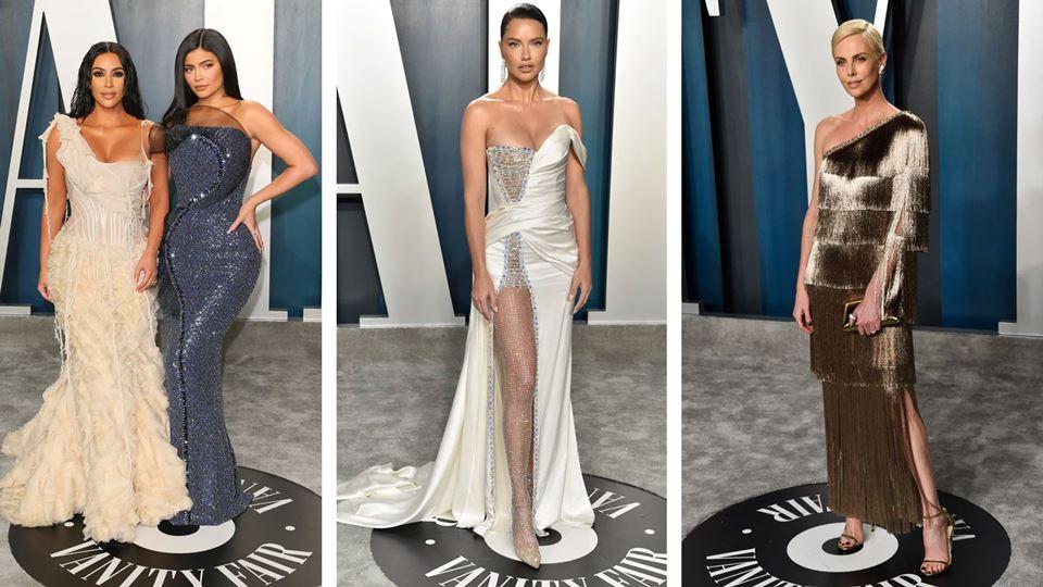 Kim Kardashian e Kylie Jenner, Adriana Lima, Charlize Theron na after party, depois dos Óscares
