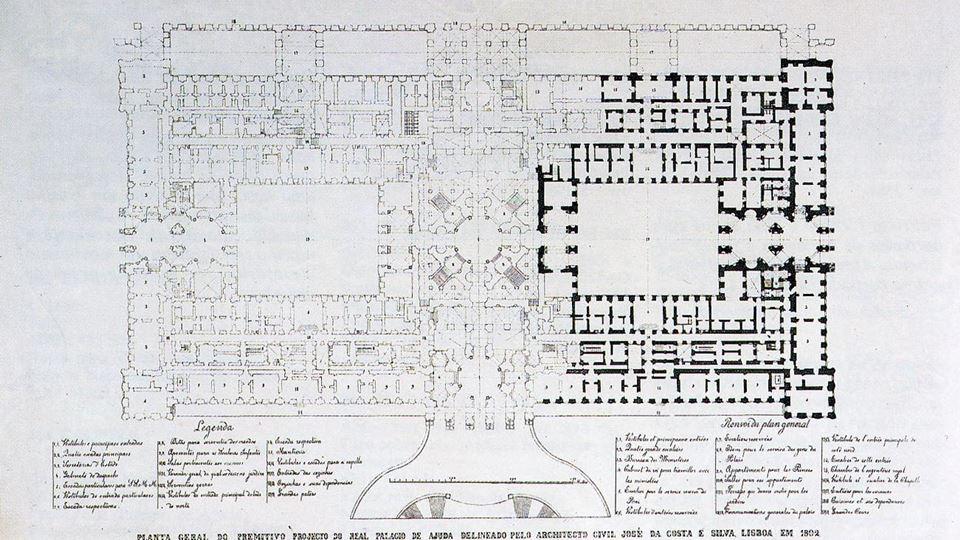 Palácio Ajuda planta Palácio Nacional da Ajuda