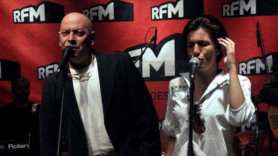 Paulo Gonzo e Lucia Moniz  RFM foto José Frade