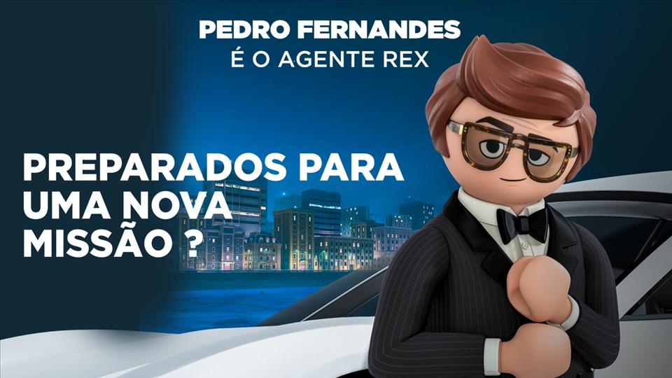 PLAYMOBIL - Pedro Fernandes é o Agente REX