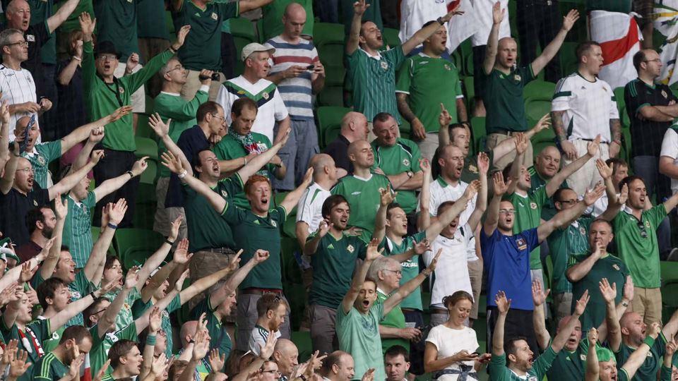 Público a festejar no estádio