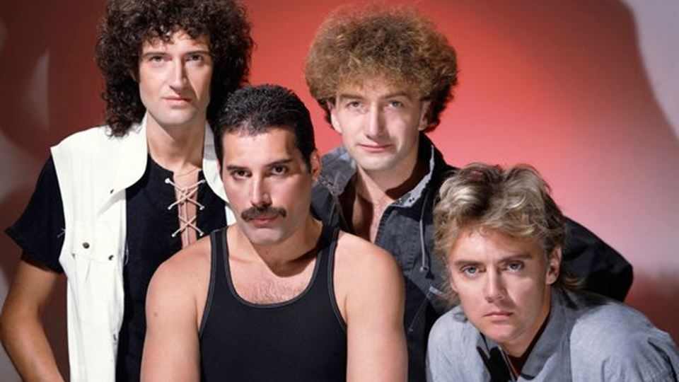 Queen: Brian May, Freddie Mercury, John Deacon e Roger Taylor