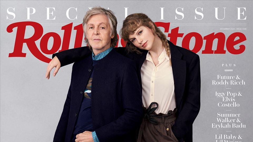 Paul Mc Cartney e Taylor Swift - foto de Mary McCartney - capa Rolling Stone