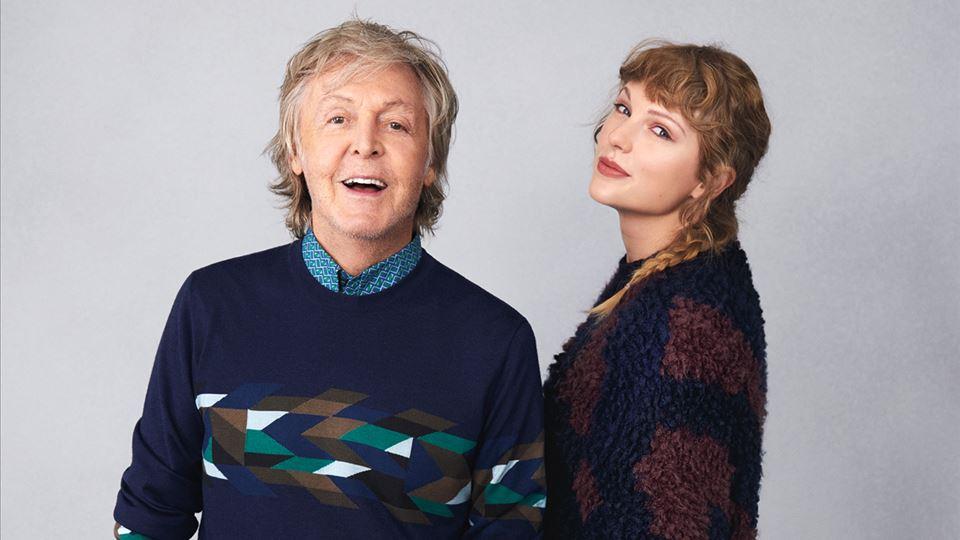 Paul Mc Cartney e Taylor Swift - foto de Mary McCartney para Rolling Stone