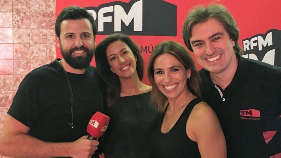 RFM - Rodrigo Gomes, Joana Cruz e Daniel Fontoura com Ana Moura na Altice Arena