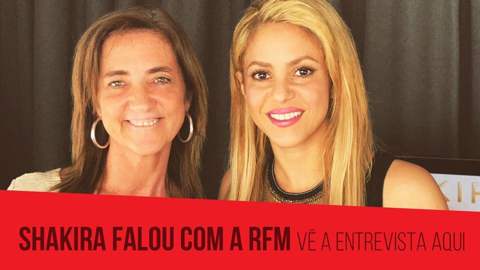 Shakira falou com a RFM