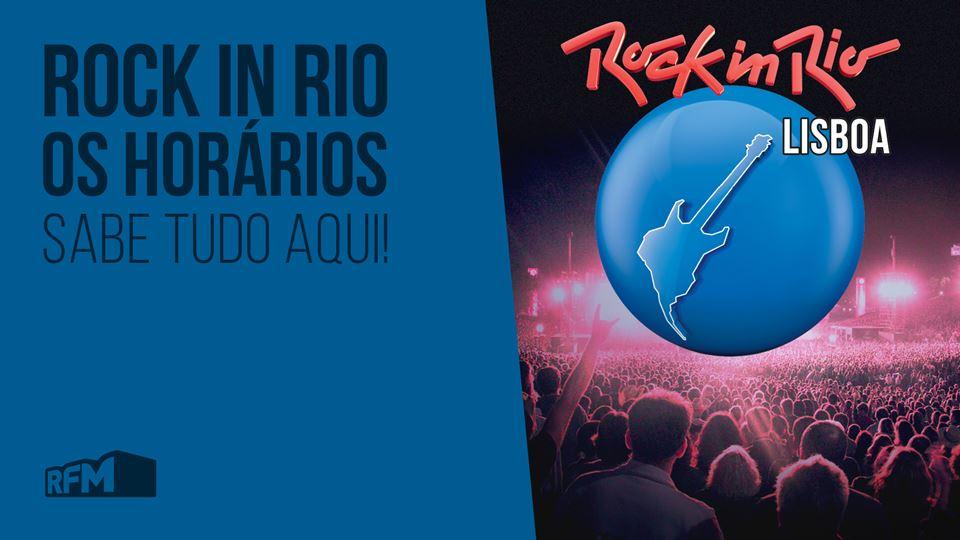 Rock in Rio: os horários!