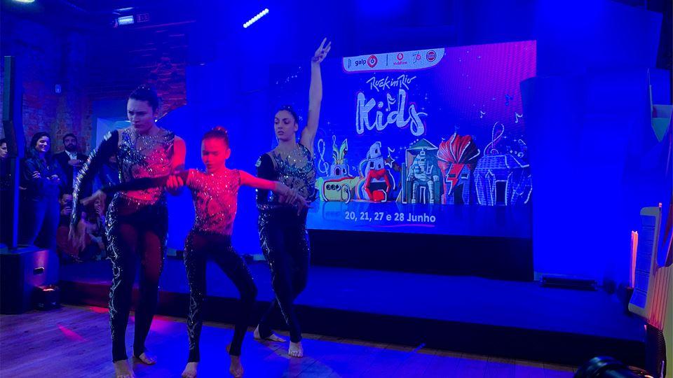 As acrobatas do Ginásio Clube Português que vão atuar no Rock in Rio Kids