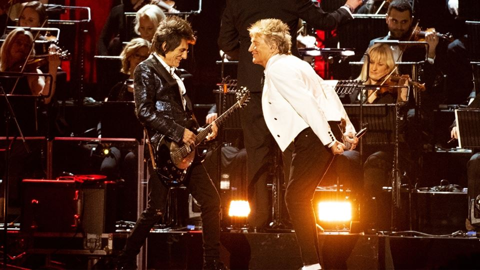 Rod Stewart e Faces Brits 2020