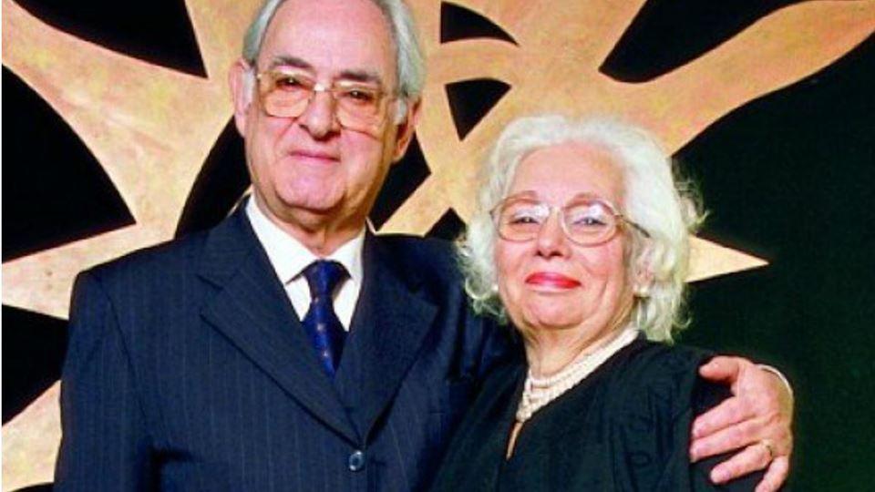Ruy de Carvalho com a mulher