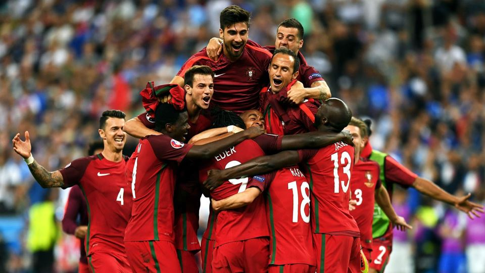 Seleção Nacional celebra a vitória do Europeu de 2016