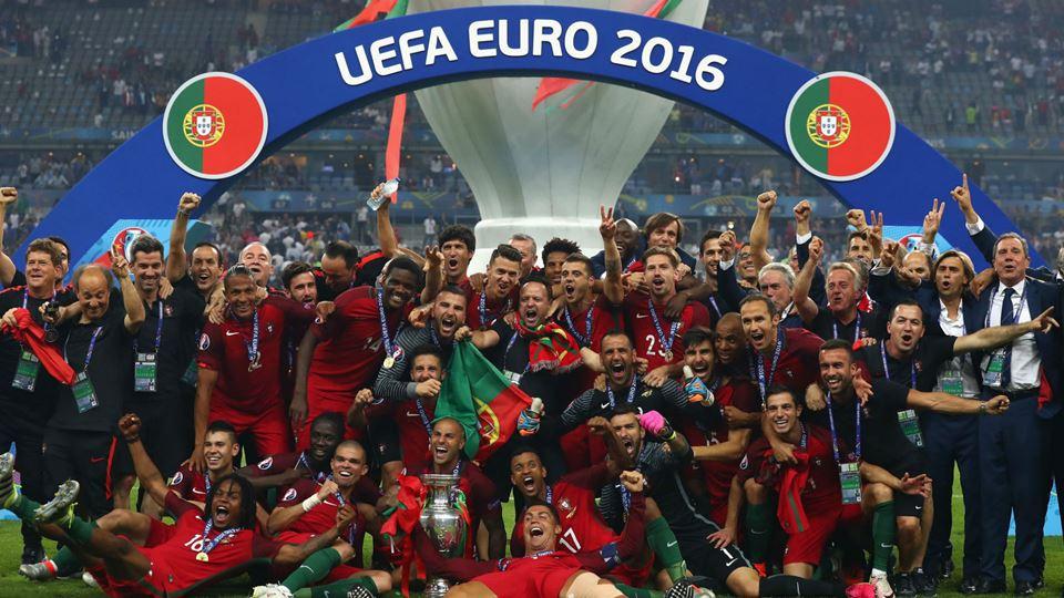 Seleção Nacional na final do Europeu de 2016