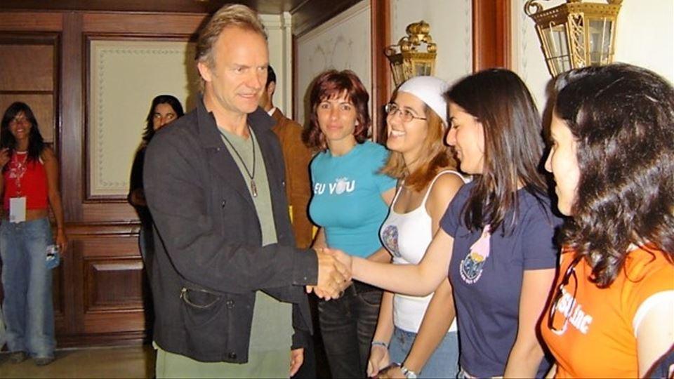 Sting com vencedoras RFM Rock in Rio Lisboa 2004