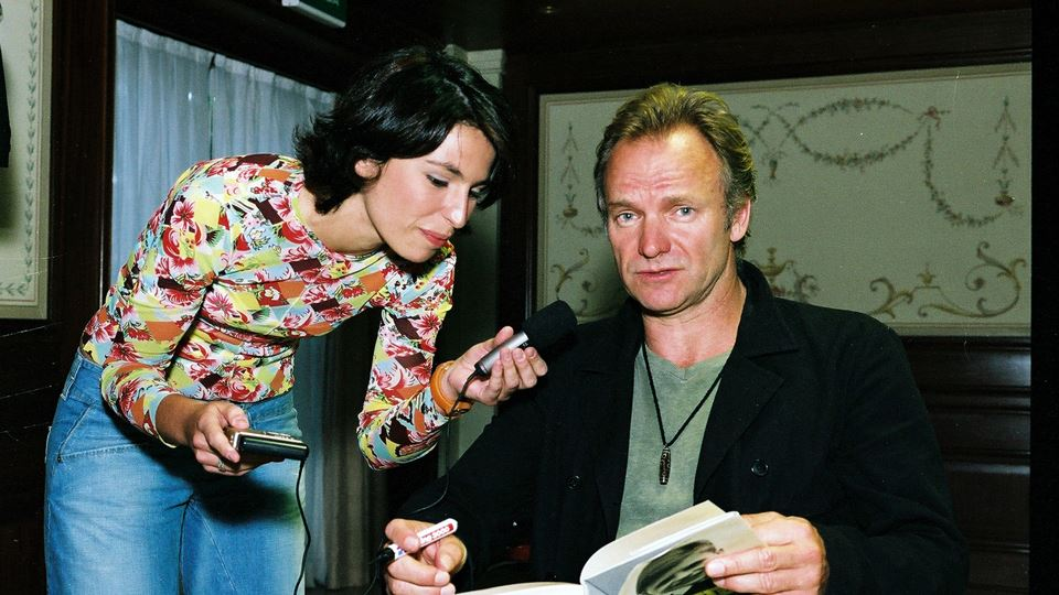 Joana Cruz com Sting Rock in Rio Lisboa 2004