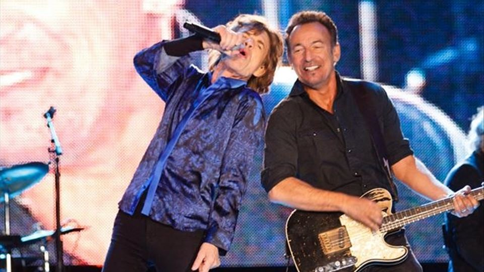 Bruce Springsteen em palco com os Rolling Stones Rock in Rio Lisboa 2014