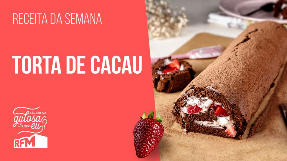 Torta de Cacau, receita do nov...