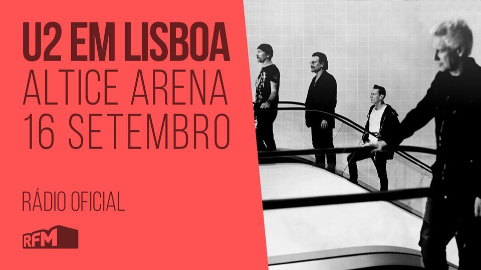 U2 em Portugal com a RFM