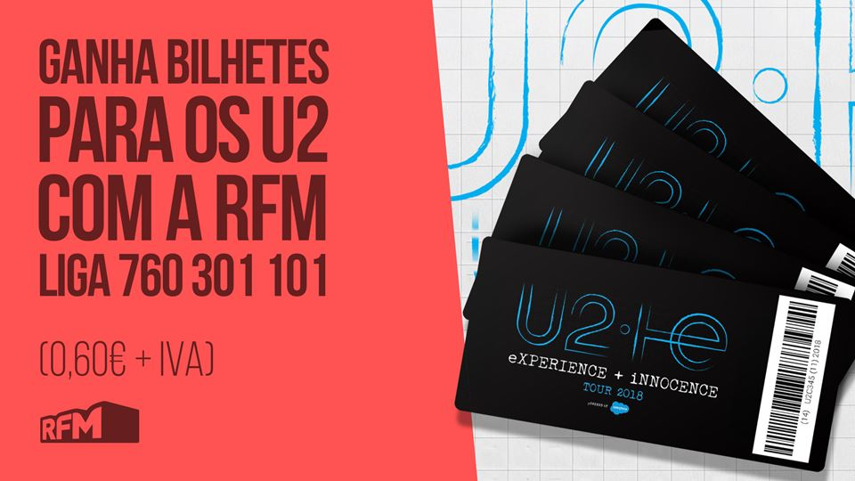 Bilhetes para os U2 é na RFM