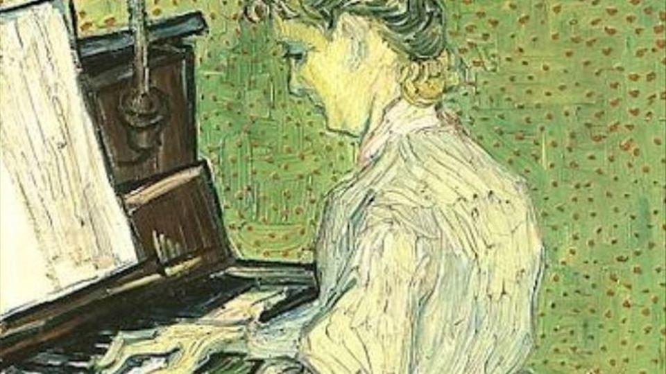 Marguerite Gachet ao Piano , Auvers-sur-Oise: June, 1890 : Offentliche Kunstsammlung, Kunstmuseum Basel, Suiça