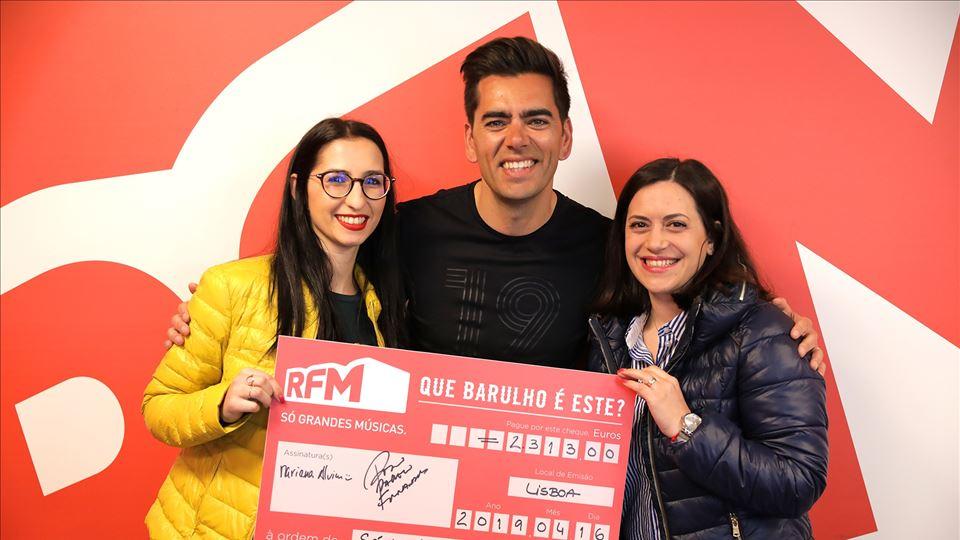 """Sónia Almeida, vencedora do """"Que barulho é este na RFM?"""" com Pedro Fernandes"""