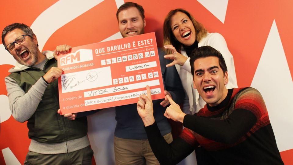 Vitor Sousa, o vencedor dos mais de 26 mil euros com a equipa do Café da Manhã