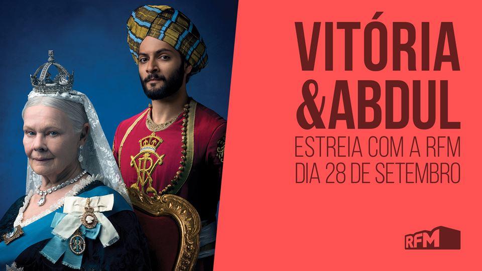 Vitoria e Abdul estreia dia 28 com a RFM