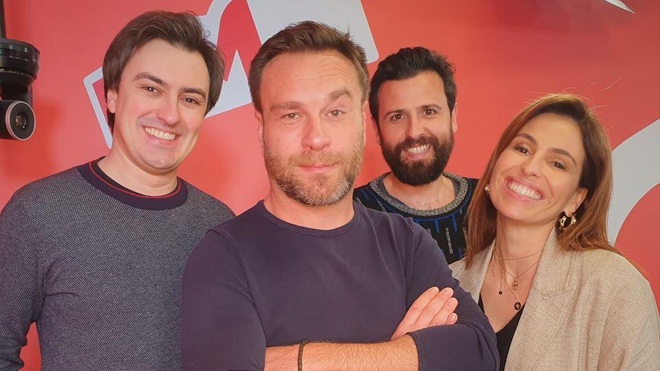 Nuno Eiró no Wi-fi da RFM com  Joana Cruz, Rodrigo Gomes e Daniel Fontoura