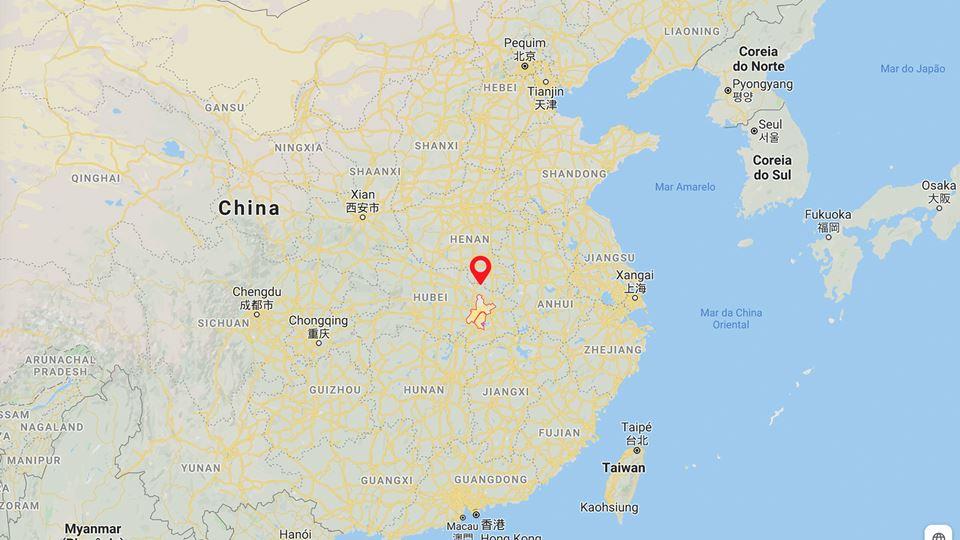 Wuhan mapa